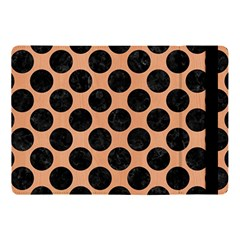 Circles2 Black Marble & Natural Red Birch Wood (r) Apple Ipad Pro 10 5   Flip Case by trendistuff