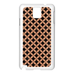 Circles3 Black Marble & Natural Red Birch Wood Samsung Galaxy Note 3 N9005 Case (white) by trendistuff