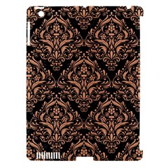 Damask1 Black Marble & Natural Red Birch Wood Apple Ipad 3/4 Hardshell Case (compatible With Smart Cover) by trendistuff