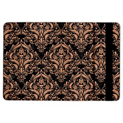 Damask1 Black Marble & Natural Red Birch Wood Ipad Air 2 Flip by trendistuff