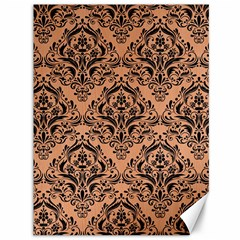 Damask1 Black Marble & Natural Red Birch Wood (r) Canvas 36  X 48   by trendistuff