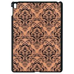 Damask1 Black Marble & Natural Red Birch Wood (r) Apple Ipad Pro 9 7   Black Seamless Case by trendistuff