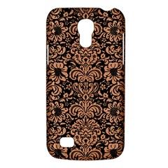 Damask2 Black Marble & Natural Red Birch Wood Galaxy S4 Mini by trendistuff