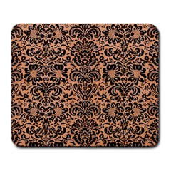 Damask2 Black Marble & Natural Red Birch Wood (r) Large Mousepads