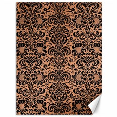 Damask2 Black Marble & Natural Red Birch Wood (r) Canvas 36  X 48   by trendistuff