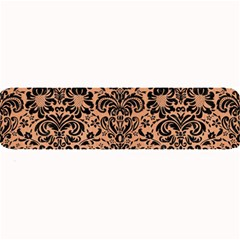 Damask2 Black Marble & Natural Red Birch Wood (r) Large Bar Mats by trendistuff