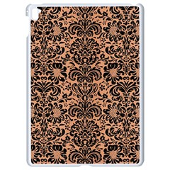 Damask2 Black Marble & Natural Red Birch Wood (r) Apple Ipad Pro 9 7   White Seamless Case by trendistuff