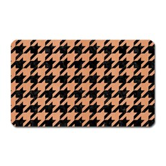 Houndstooth1 Black Marble & Natural Red Birch Wood Magnet (rectangular) by trendistuff