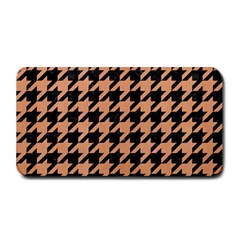 Houndstooth1 Black Marble & Natural Red Birch Wood Medium Bar Mats by trendistuff