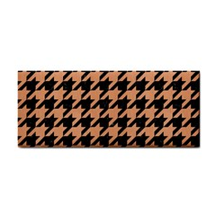 Houndstooth1 Black Marble & Natural Red Birch Wood Cosmetic Storage Cases by trendistuff