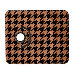 Houndstooth1 Black Marble & Natural Red Birch Wood Galaxy S3 (flip/folio) by trendistuff