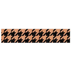 Houndstooth1 Black Marble & Natural Red Birch Wood Flano Scarf (small) by trendistuff
