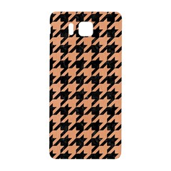 Houndstooth1 Black Marble & Natural Red Birch Wood Samsung Galaxy Alpha Hardshell Back Case by trendistuff