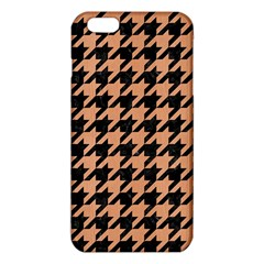 Houndstooth1 Black Marble & Natural Red Birch Wood Iphone 6 Plus/6s Plus Tpu Case by trendistuff