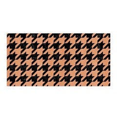 Houndstooth1 Black Marble & Natural Red Birch Wood Satin Wrap by trendistuff