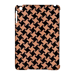Houndstooth2 Black Marble & Natural Red Birch Wood Apple Ipad Mini Hardshell Case (compatible With Smart Cover) by trendistuff
