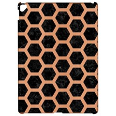 Hexagon2 Black Marble & Natural Red Birch Wood Apple Ipad Pro 12 9   Hardshell Case by trendistuff