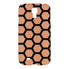 Hexagon2 Black Marble & Natural Red Birch Wood (r) Samsung Galaxy S4 I9500/i9505 Hardshell Case by trendistuff