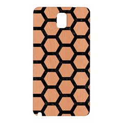 Hexagon2 Black Marble & Natural Red Birch Wood (r) Samsung Galaxy Note 3 N9005 Hardshell Back Case by trendistuff