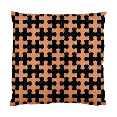 Puzzle1 Black Marble & Natural Red Birch Wood Standard Cushion Case (two Sides) by trendistuff