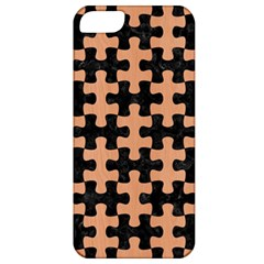 Puzzle1 Black Marble & Natural Red Birch Wood Apple Iphone 5 Classic Hardshell Case by trendistuff