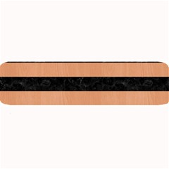 Stripes2 Black Marble & Natural Red Birch Wood Large Bar Mats