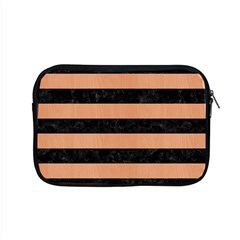 Stripes2 Black Marble & Natural Red Birch Wood Apple Macbook Pro 15  Zipper Case by trendistuff