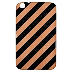 Stripes3 Black Marble & Natural Red Birch Wood Samsung Galaxy Tab 3 (8 ) T3100 Hardshell Case  by trendistuff