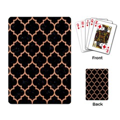 Tile1 Black Marble & Natural Red Birch Wood Playing Card by trendistuff