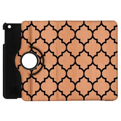 Tile1 Black Marble & Natural Red Birch Wood (r) Apple Ipad Mini Flip 360 Case by trendistuff