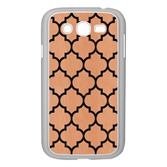 Tile1 Black Marble & Natural Red Birch Wood (r) Samsung Galaxy Grand Duos I9082 Case (white) by trendistuff