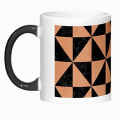 Triangle1 Black Marble & Natural Red Birch Wood Morph Mugs by trendistuff
