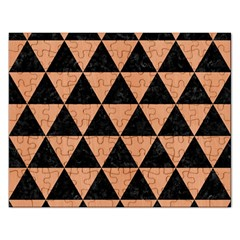 Triangle3 Black Marble & Natural Red Birch Wood Rectangular Jigsaw Puzzl by trendistuff