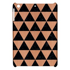 Triangle3 Black Marble & Natural Red Birch Wood Apple Ipad Mini Hardshell Case by trendistuff