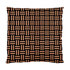 Woven1 Black Marble & Natural Red Birch Wood Standard Cushion Case (one Side) by trendistuff