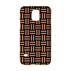 Woven1 Black Marble & Natural Red Birch Wood Samsung Galaxy S5 Hardshell Case  by trendistuff