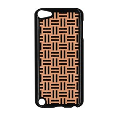 Woven1 Black Marble & Natural Red Birch Wood (r) Apple Ipod Touch 5 Case (black) by trendistuff