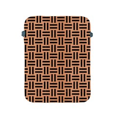Woven1 Black Marble & Natural Red Birch Wood (r) Apple Ipad 2/3/4 Protective Soft Cases by trendistuff