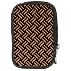 Woven2 Black Marble & Natural Red Birch Wood Compact Camera Cases by trendistuff