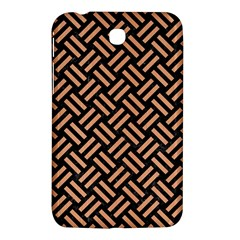 Woven2 Black Marble & Natural Red Birch Wood Samsung Galaxy Tab 3 (7 ) P3200 Hardshell Case  by trendistuff