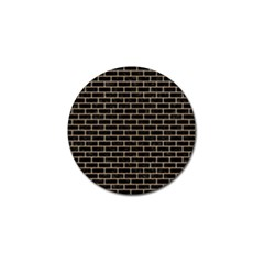 Brick1 Black Marble & Natural White Birch Wood Golf Ball Marker (4 Pack) by trendistuff