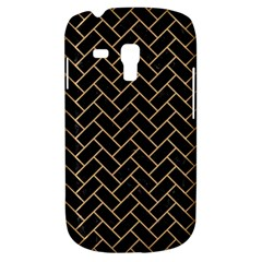 Brick2 Black Marble & Natural White Birch Wood Galaxy S3 Mini by trendistuff