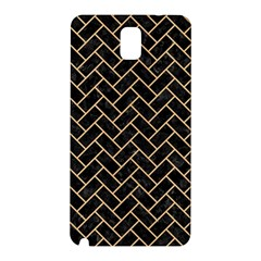 Brick2 Black Marble & Natural White Birch Wood Samsung Galaxy Note 3 N9005 Hardshell Back Case