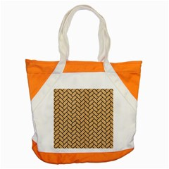 Brick2 Black Marble & Natural White Birch Wood (r) Accent Tote Bag