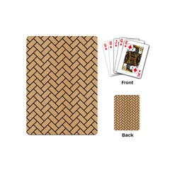Brick2 Black Marble & Natural White Birch Wood (r) Playing Cards (mini)  by trendistuff