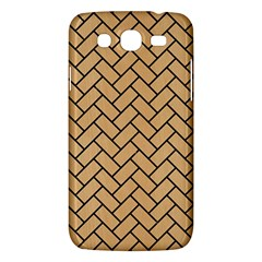 Brick2 Black Marble & Natural White Birch Wood (r) Samsung Galaxy Mega 5 8 I9152 Hardshell Case  by trendistuff