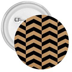 Chevron2 Black Marble & Natural White Birch Wood 3  Buttons by trendistuff