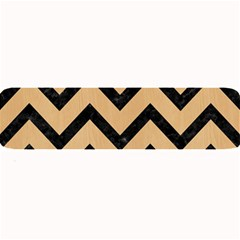 Chevron9 Black Marble & Natural White Birch Wood (r) Large Bar Mats by trendistuff