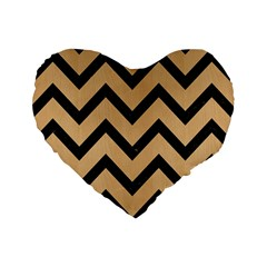 Chevron9 Black Marble & Natural White Birch Wood (r) Standard 16  Premium Heart Shape Cushions by trendistuff