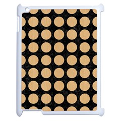 Circles1 Black Marble & Natural White Birch Wood Apple Ipad 2 Case (white) by trendistuff